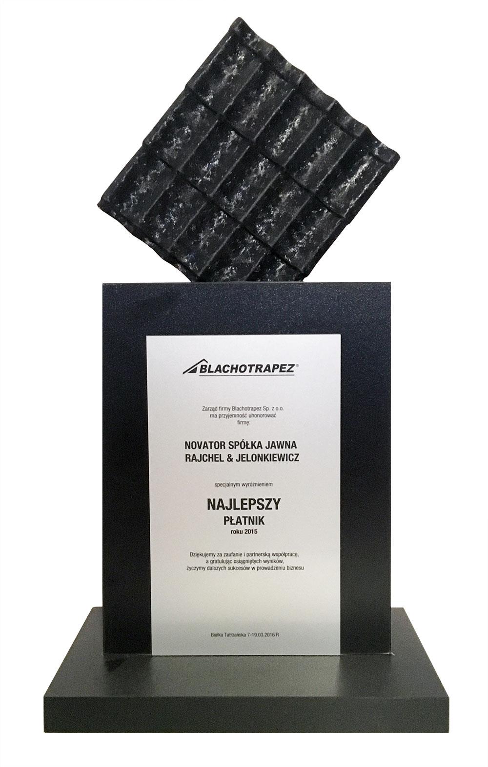 Blachotrapez Najlepszy płatnik 2015