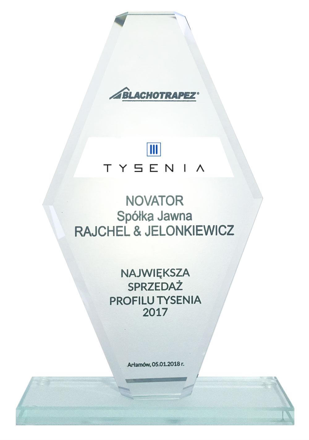 Największa sprzedaż profilu Tysenia 2017